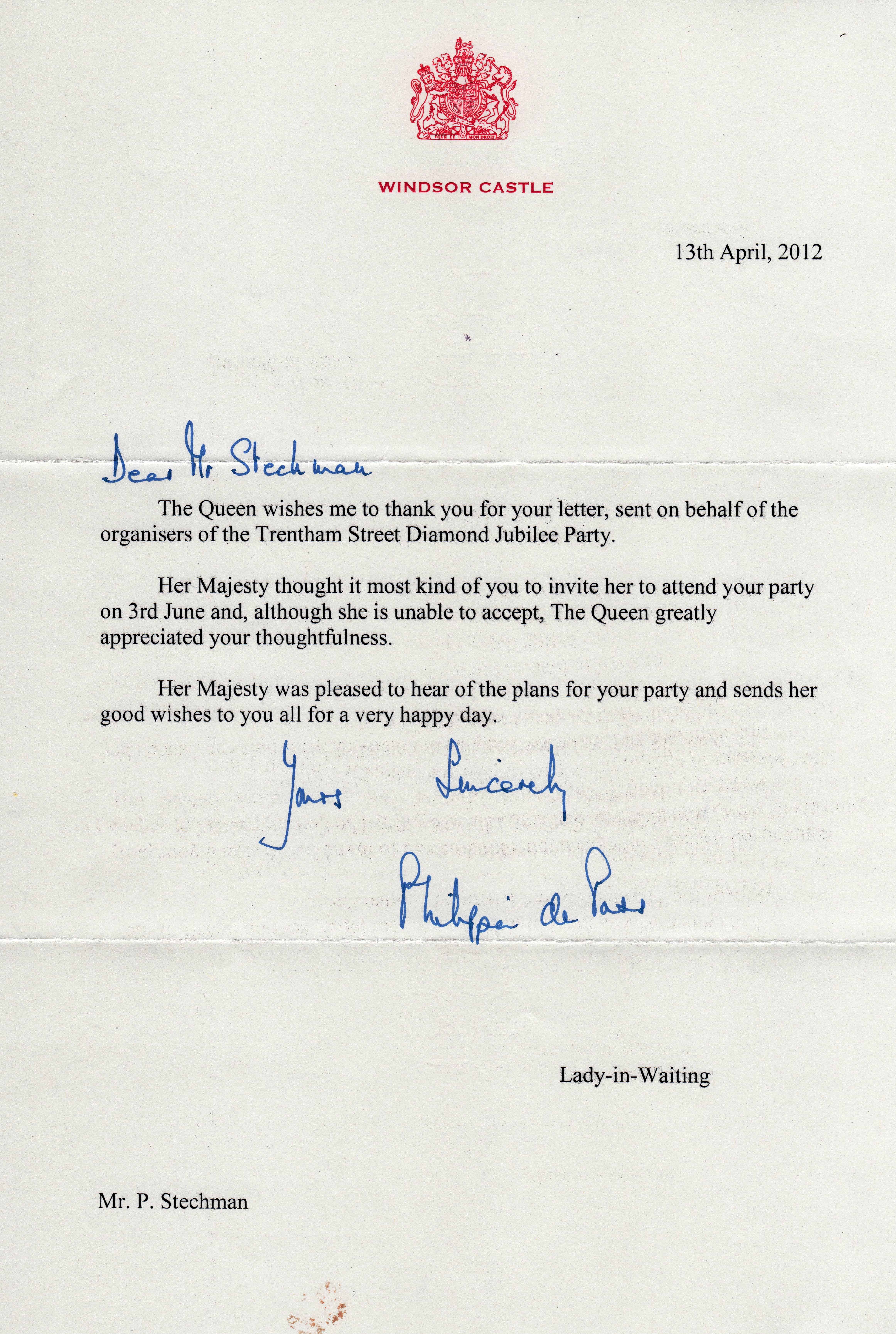 Wosm atas scout home invitation letter to the queen gallery gerald stopboris Choice Image